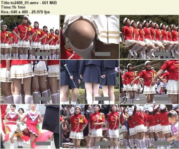 Cheerleaders Candid to2488_01