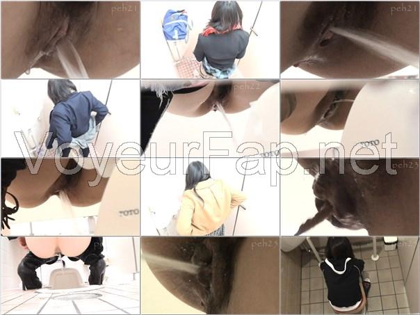 HD高画質トイレ潜入撮 極厠 女子アスリート編, japanese toilet voyeur, peeping-eyes toilet