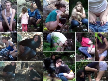 Russian Girls Pee in the Woods 3