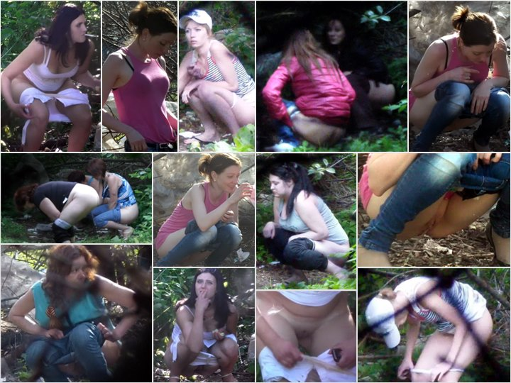 Russian Girls Pee in the Woods 11