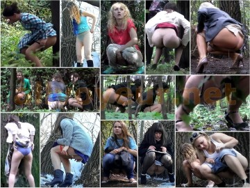 Russian Girls Pee in the Woods 25 – 26
