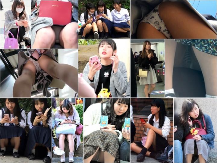 digi-tents 532 座り・しゃがみ file01, アイドル系の可愛さ!!めくりから撮ったスマホ映像に大興奮!!