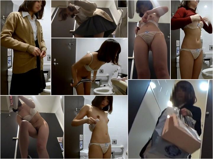 rea511_512 りある。トイレで私服に着替える制服の女子高生
