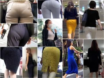 Gcolle Ass 10-12 お姉ちゃんぱんつはいてないの?長身モデル級店員さん激エロ生尻&ギャルOLたちのTバック【動画】