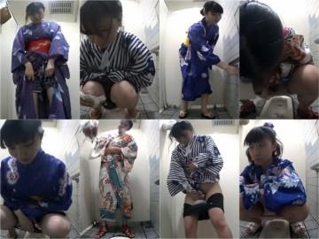 haibianwcdaoshe12 海のトイレを前から撮ってみたら12沖縄の〇〇祭り浴衣編(かなり若め)