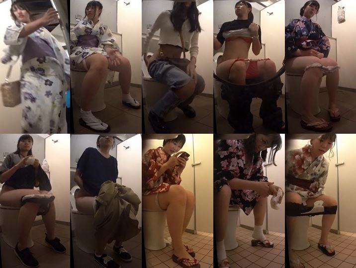 15318757 新狩場洋式トイレを撮りました!駆け込みギリギリ浴衣娘撮れた!