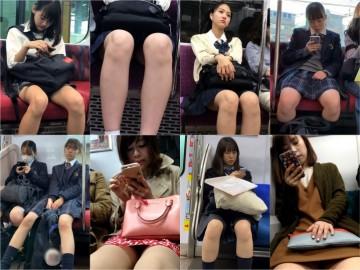gcolle metro (電車対面)(顔出し)S級にかわいい女子大生さん