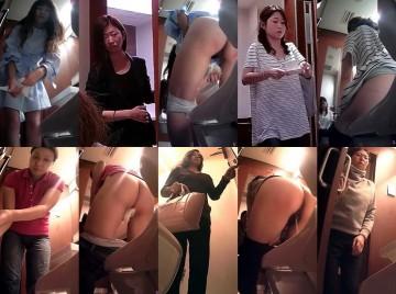 美熟女トイレ(20)ベストセレクションモデル級美女登場感動の中腰放水ドアップ敢行!秘め事を覗く全9名