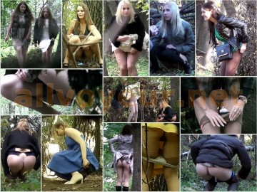 Russian Girls Pee in the Woods 27 – 28