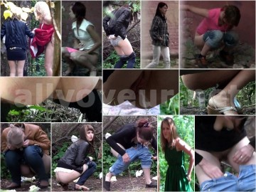 Russian Girls Pee in the Woods 29 – 30