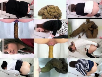 Pooping girls in toilet voyeur. (HD 1080p)