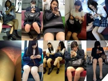 gcolle metro 可愛いJKがいろんな脚技を披露〜対面観察♡
