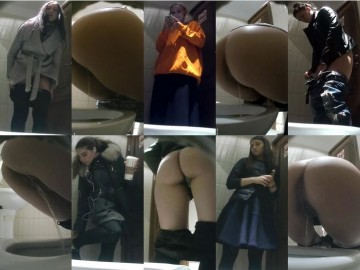 EgoisteWC 97-102 Young girls pee on camera in the toilet