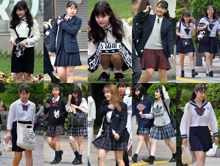 gcolle_candid_106 しゃがみ女子, 制服JK collection 48
