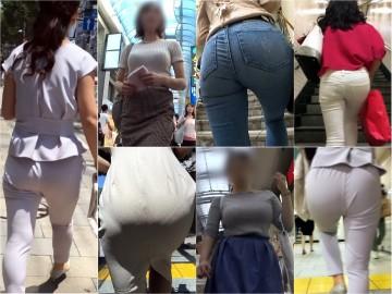 OL15☆ランチに向かう美尻パンツと階段登り美脚スカート^ ^