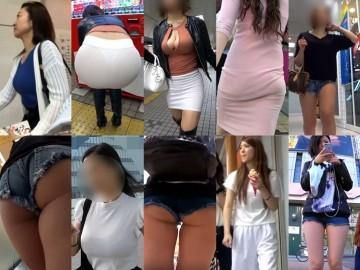 【G2】Gカップ 白ピタトップスOLの着衣巨乳 vol.57, 【FHD 60fps動画】むちむち爆尻パンツスーツOL, 【街の美女】着衣巨乳の横乳